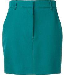 calvin klein 205w39nyc straight mini skirt - green