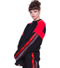 bluza black and red