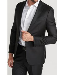 chaqueta formal liso negro perry ellis