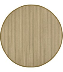 safavieh natural fiber multi and green 6' x 6' sisal weave round rug