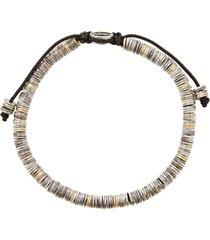 18k gold and silver mini disc bracelet