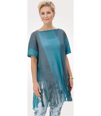 poncho mona turquoise::petrol::steen