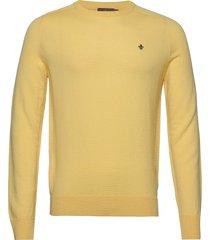 merino ck gebreide trui met ronde kraag geel morris