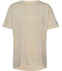 enkulla ss tee 5310 t-shirts & tops short-sleeved creme envii