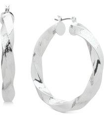 """dkny medium twisted hoop earrings, 2"""""""