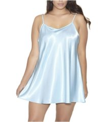 icollection-lila satin ultra soft sleep and lounge chemise nightgown