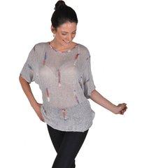 sweater algodon gris alexandra cid
