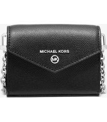 michael kors black convertible card holder