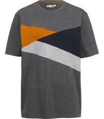 t-shirt men plus antracitgrå::marinblå