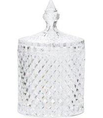 bomboniere redonda de vidro grande natal transparente