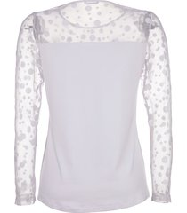 topp med transparent mesh dress in vit
