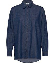 slfmiranda ls slit shirt w overhemd met lange mouwen blauw selected femme