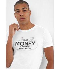 camiseta sergio k lettering off-white - kanui