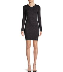 rib-knit sparkle sweater dress
