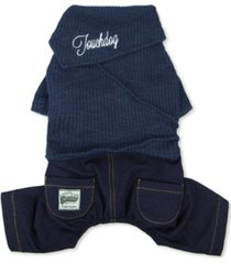 touchdog vogue neck-wrap sweater and denim pant outfit small