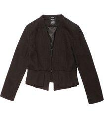 blazer color siete para mujer - negro