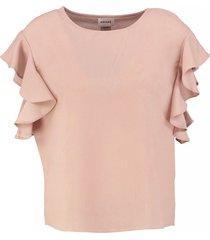 vero moda aware misty rose oversized shirt stevig polyester