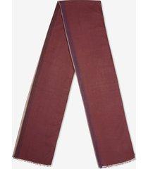 stripe scarf burgundy 1