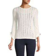 t tahari women's flare-sleeve sweater - star white - size xl