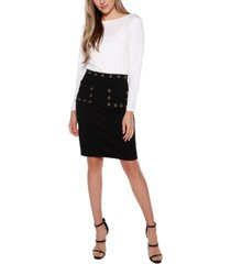 belldini black label fitted pocket skirt