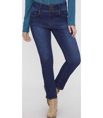 jeans push up 3 botones azul medio  corona
