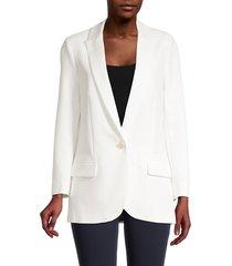 zadig & voltaire women's viva skull graphic jacket - cream - size 38 (m)