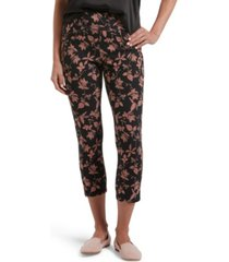 utopia by hue denim floral print capri leggings, online only