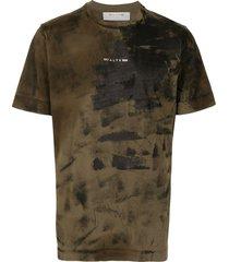 1017 alyx 9sm dark-olive green cotton t-shirt