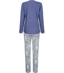 pyjamas mona blå::benvit::senapsgul
