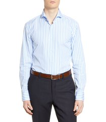 men's boss slim fit soft line stripe dress shirt