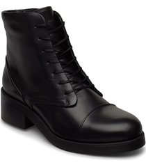 district lace up boot shoes boots ankle boots ankle boot - heel svart royal republiq