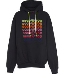 ireneisgood black hoodie with emboidery