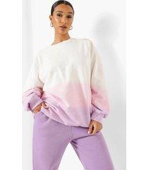 oversized ombre tie dye sweater, pink