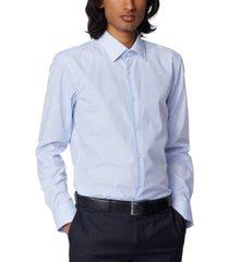 boss men's jango light pastel blue dress shirt