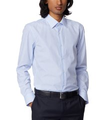 boss men's jango light pastel blue dress shirt