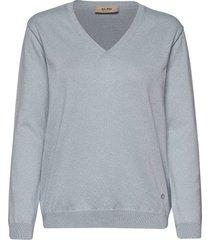 ada v-neck knit stickad tröja blå mos mosh
