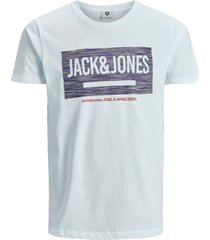 jack & jones plus size t-shirt opdruk wit o-hals