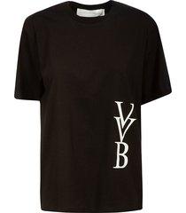 victoria victoria beckham raised logo t-shirt