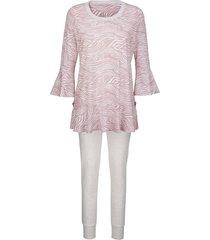 pyjama simone rozenhout/wit/grijs gemêleerd