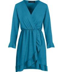jurk met overslag turquoise