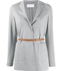 fabiana filippi single breasted belted jersey blazer - grey