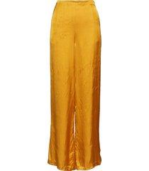 solid wide leg pant wijde broek geel rabens sal r