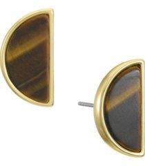 trifari women's tiger eye stud earring
