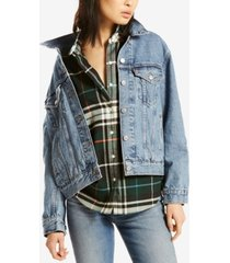 levi's ex-boyfriend cotton denim trucker jacket