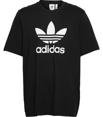 adicolor classics trefoil tee t-shirts short-sleeved svart adidas originals