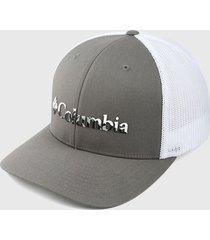 gorra gris-blanco columbia mesh ball