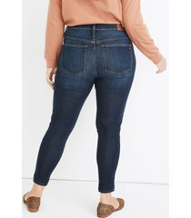 madewell 10-inch high waist ankle skinny jeans, size 29 in woodland wash at nordstrom