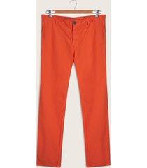 pantalón slim fit teñido naranja 38