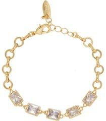 ettika francine link bracelet with rectangle crystals