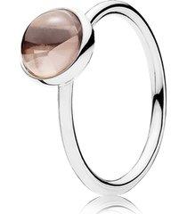 anel gotas de poesia rosa blush